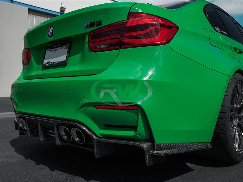 2014-2018 BMW F80 M3 / F82 F83 M4 VR Style Carbon Fiber Rear Diffuser Body Kit
