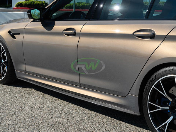 RW Carbon - BMW G30 F90 Carbon Fiber Side Skirt Extensions