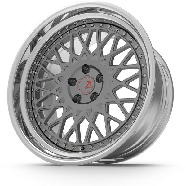 SEVENK - CLASSIC (2 PIECE FORGED) STEP OR REVERSE LIP (PRICE PER SET) 21x10.5 - 21x12