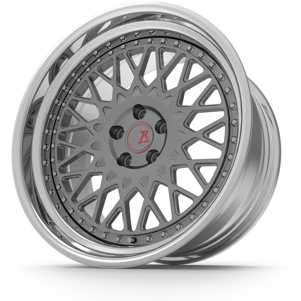 SEVENK - CLASSIC (2 PIECE FORGED) STEP OR REVERSE LIP (PRICE PER SET)  - 21x8 - 21x10