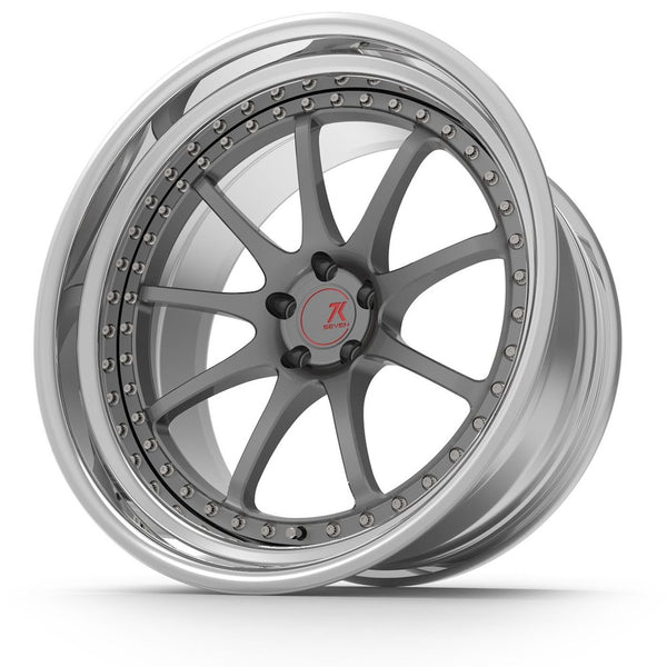 SEVENK - GT7 (2 PIECE FORGED) STEP OR REVERSE LIP (PRICE PER SET) 21x10.5 - 21x12