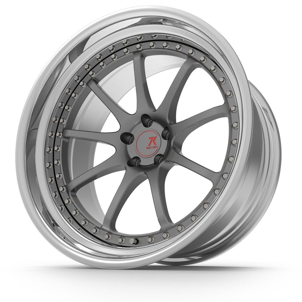 SEVENK - GT7 (2 PIECE FORGED) STEP OR REVERSE LIP (PRICE PER SET)  - 21x8 - 21x10
