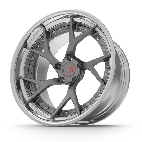 SEVENK - HYDRA (2 PIECE FORGED) STEP OR REVERSE LIP (PRICE PER SET) 21x10.5 - 21x12