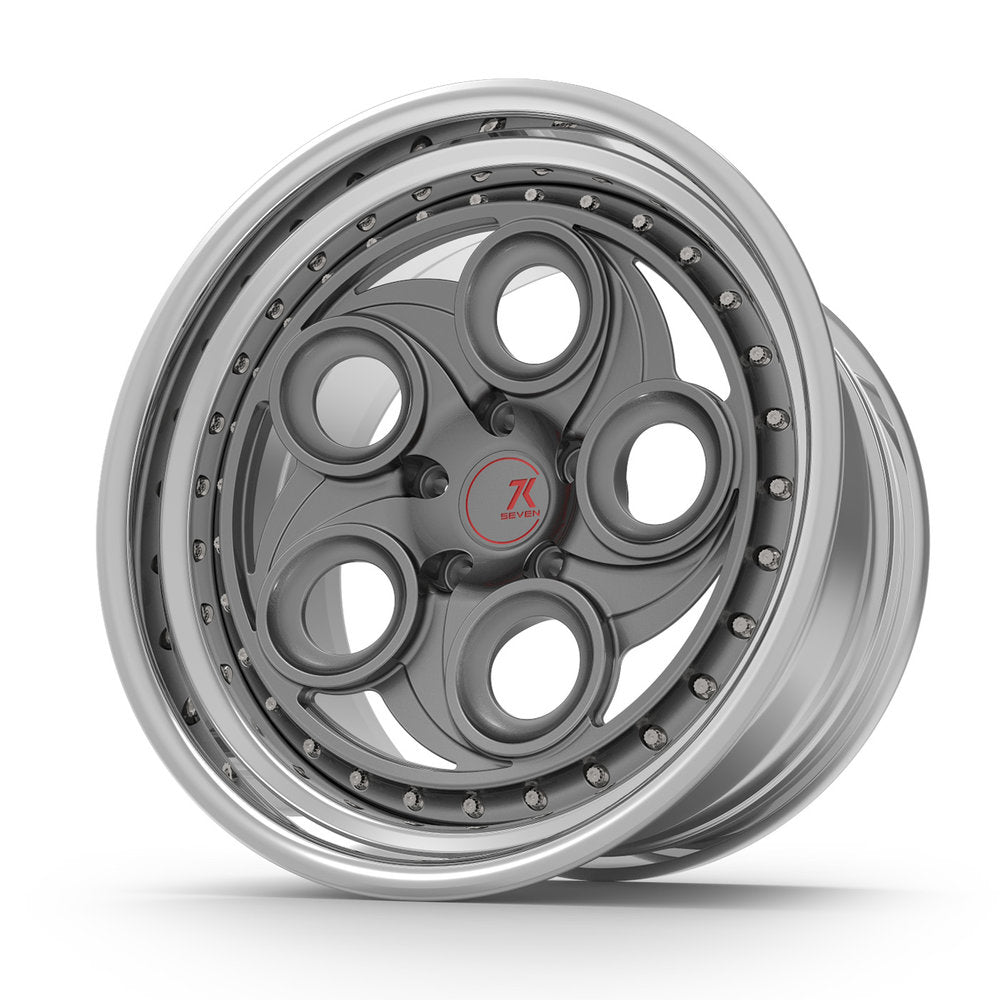 SEVENK - KLAUS (2 PIECE FORGED) STEP OR REVERSE LIP (PRICE PER SET)  - 21x8 - 21x10