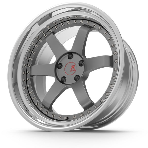 SEVENK - LOUIE (2 PIECE FORGED) STEP OR REVERSE LIP (PRICE PER SET) 21x10.5 - 21x12