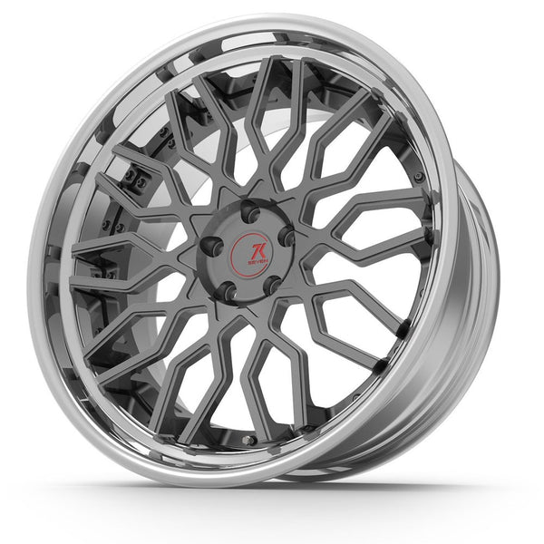 SEVENK - MECHA R (2 PIECE FORGED) STEP OR REVERSE LIP (PRICE PER SET) 21x10.5 - 21x12