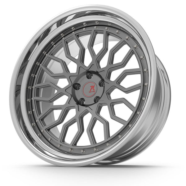 SEVENK - MECHA (2 PIECE FORGED) STEP OR REVERSE LIP (PRICE PER SET) 21x10.5 - 21x12