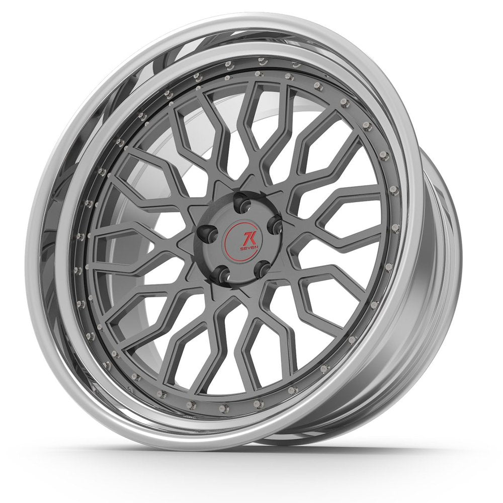 SEVENK - MECHA (2 PIECE FORGED) STEP OR REVERSE LIP (PRICE PER SET)  - 21x8 - 21x10