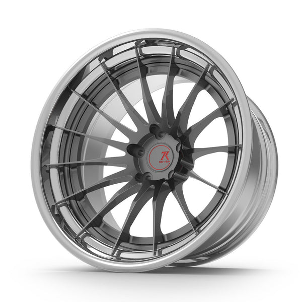 SEVENK - MEURA (2 PIECE FORGED) STEP OR REVERSE LIP (PRICE PER SET) 21x10.5 - 21x12