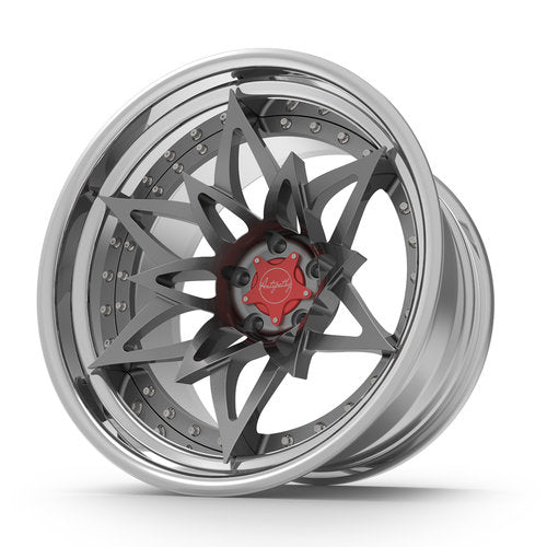 SEVENK - NIKA-S (2 PIECE FORGED) STEP OR REVERSE LIP (PRICE PER SET) 20x8 - 20x10