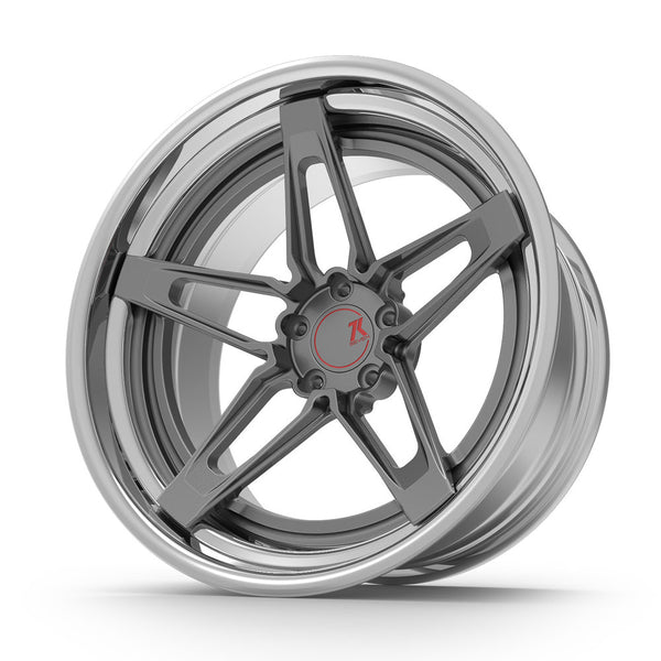 SEVENK - KORSA (2 PIECE FORGED) STEP OR REVERSE LIP (PRICE PER SET) 21x10.5 - 21x12