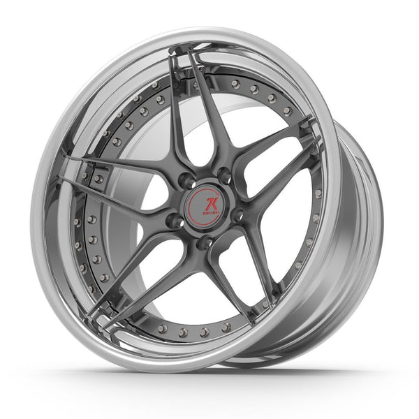 SEVENK - ORCA (2 PIECE FORGED) STEP OR REVERSE LIP (PRICE PER SET) 21x10.5 - 21x12