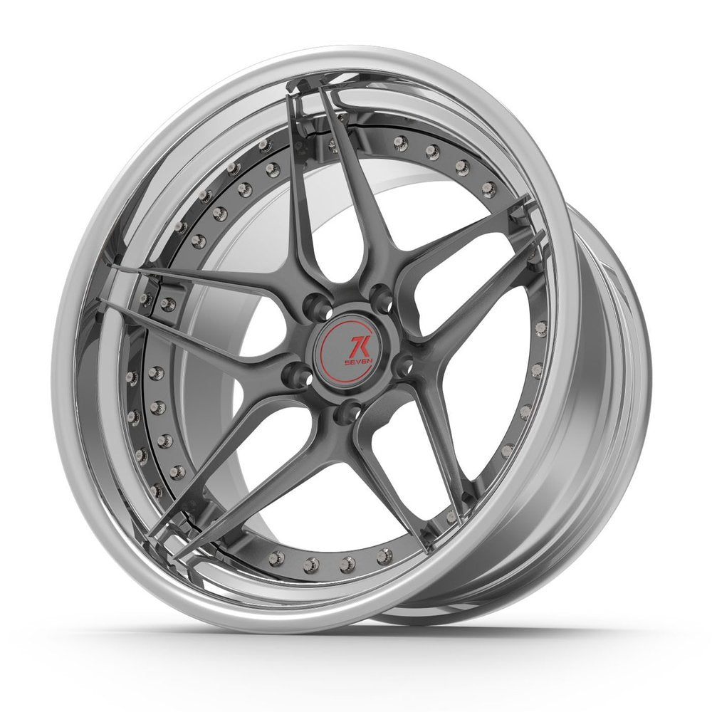SEVENK - ORCA (2 PIECE FORGED) STEP OR REVERSE LIP (PRICE PER SET)  - 21x8 - 21x10