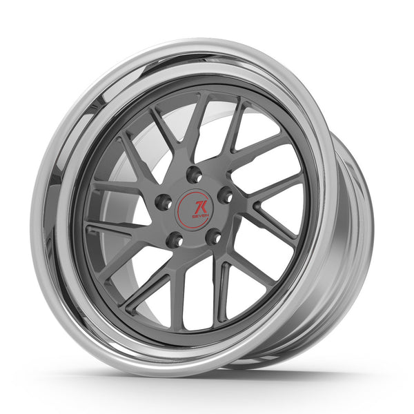 SEVENK - PHAMTON (2 PIECE FORGED) STEP OR REVERSE LIP (PRICE PER SET) 21x10.5 - 21x12