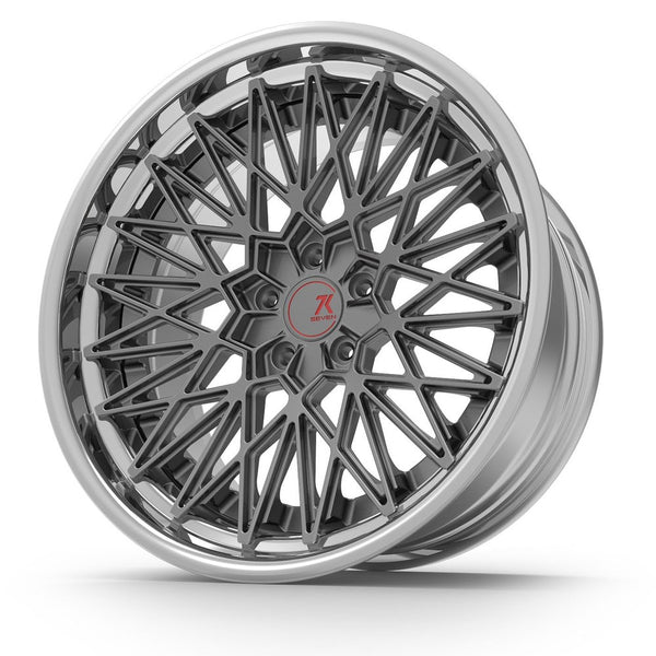 SEVENK - SUPER MESH (2 PIECE FORGED) STEP OR REVERSE LIP (PRICE PER SET) 21x10.5 - 21x12