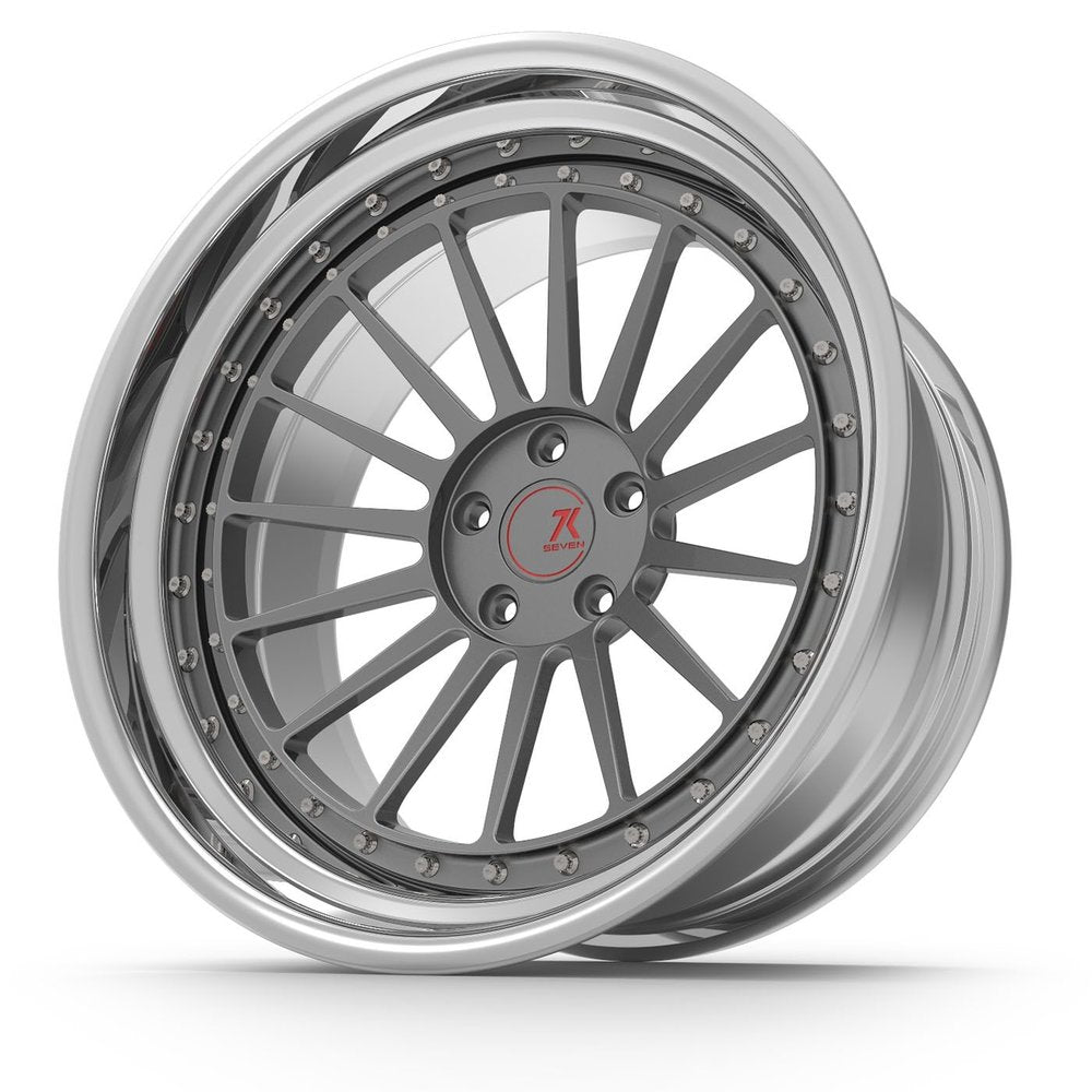 SEVENK - TITAN (2 PIECE FORGED) STEP OR REVERSE LIP (PRICE PER SET)  - 21x8 - 21x10