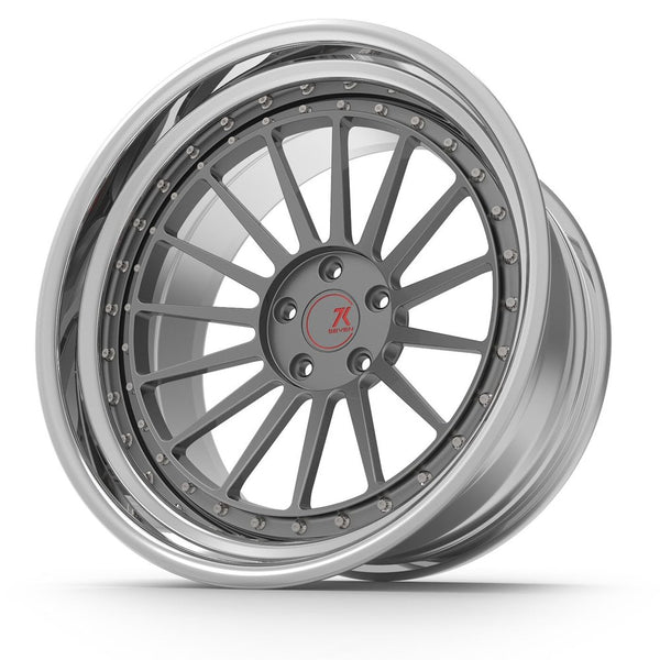 SEVENK - TITAN (2 PIECE FORGED) STEP OR REVERSE LIP (PRICE PER SET) 21x10.5 - 21x12
