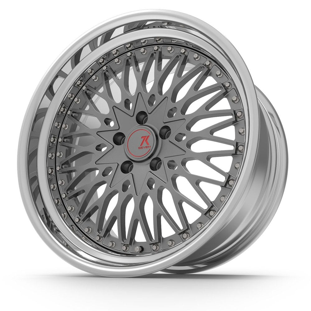 SEVENK - ULTRA (2 PIECE FORGED) STEP OR REVERSE LIP (PRICE PER SET)  - 21x8 - 21x10