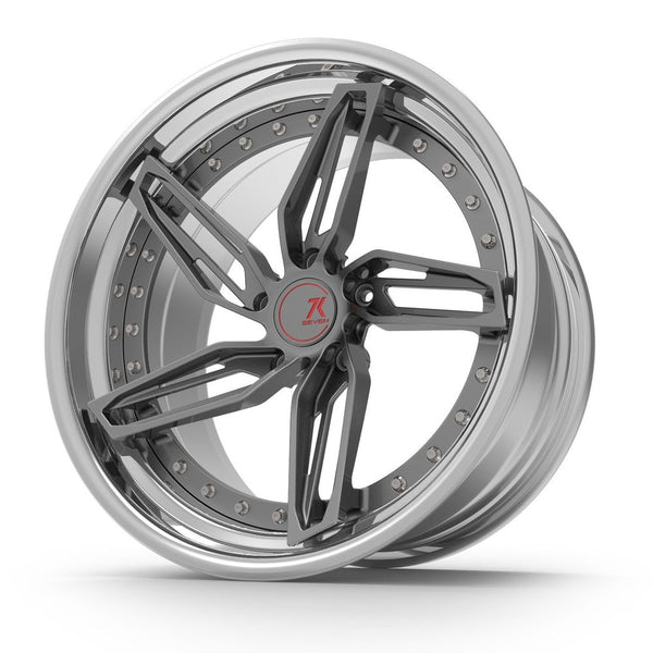 SEVENK - VEGA (2 PIECE FORGED) STEP OR REVERSE LIP (PRICE PER SET) 21x10.5 - 21x12