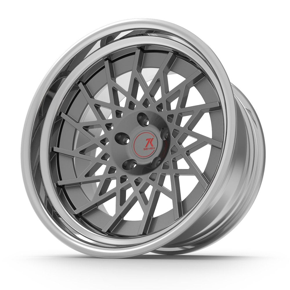 SEVENK - XENO (2 PIECE FORGED) STEP OR REVERSE LIP (PRICE PER SET)  - 21x8 - 21x10