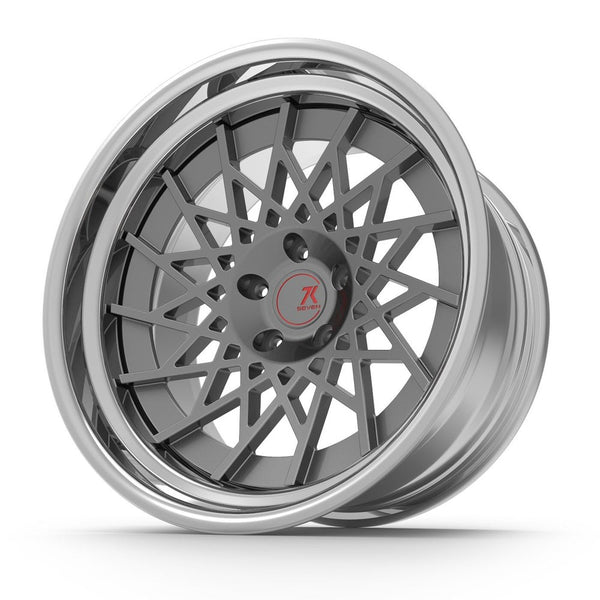SEVENK - XENO (2 PIECE FORGED) STEP OR REVERSE LIP (PRICE PER SET) 21x10.5 - 21x12