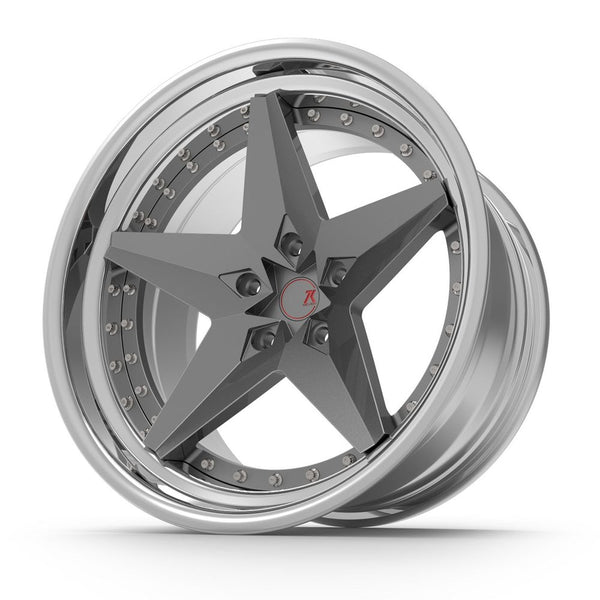 SEVENK - ZION (2 PIECE FORGED) STEP OR REVERSE LIP (PRICE PER SET) 21x10.5 - 21x12