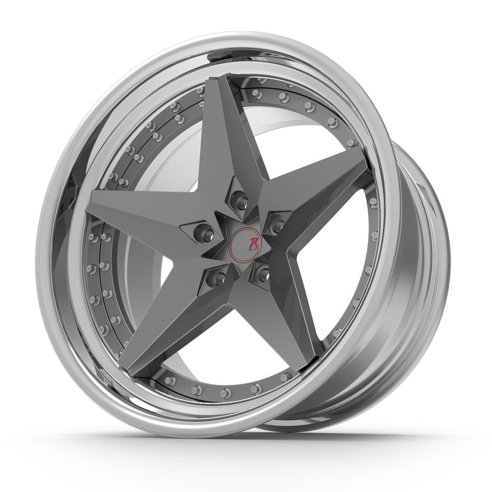 SEVENK - ZION (2 PIECE FORGED) STEP OR REVERSE LIP (PRICE PER SET)  - 21x8 - 21x10