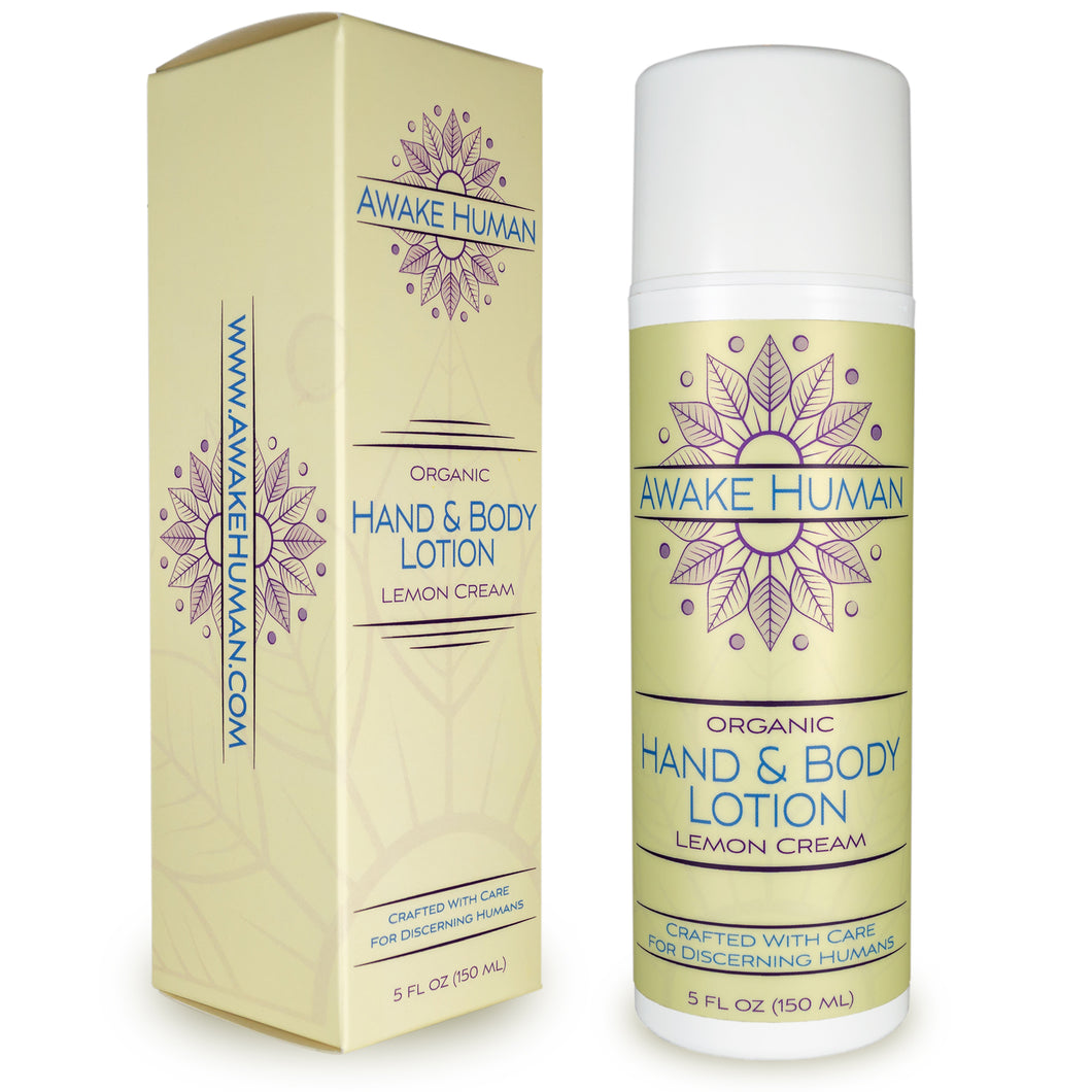 Organic Hand & Body Lotion - Lemon Cream