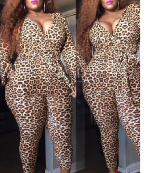 Luscious Leopard Jumpsuit (Plus)