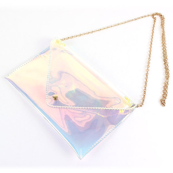 Iridescent Clutch/Cross Body Purse