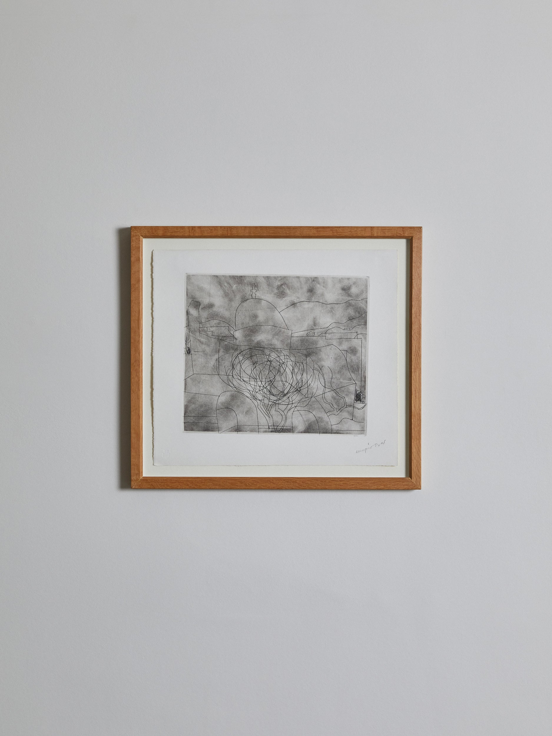 Storm Over Paros (1967) - with copper plate