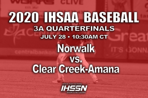 2020 Baseball Class 3A Quarterfinal (Clear Creek-Amana vs. Norwalk) Digital Download