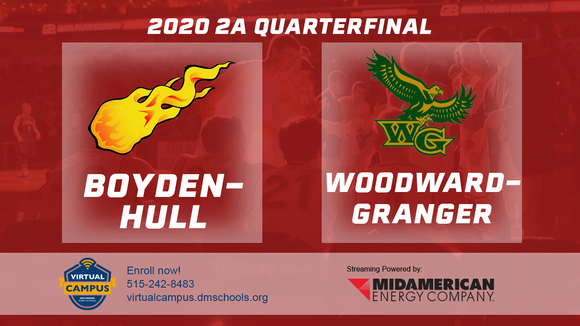 2020 Basketball Class 2A Quarterfinal (Boyden-Hull vs. Woodward-Granger) Digital Download