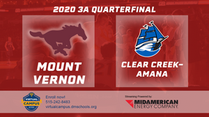 2020 Basketball Class 3A Quarterfinal (Mount Vernon vs. Clear Creek-Amana) Digital Download