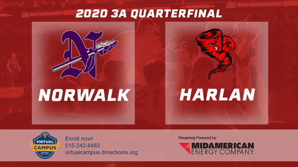 2020 Basketball Class 3A Quarterfinal (Norwalk vs. Harlan) Digital Download