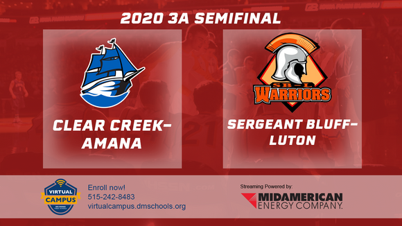 2020 Basketball Class 3A Semifinal (Clear Creek Amana vs. Sergeant Bluff-Luton) Digital Download