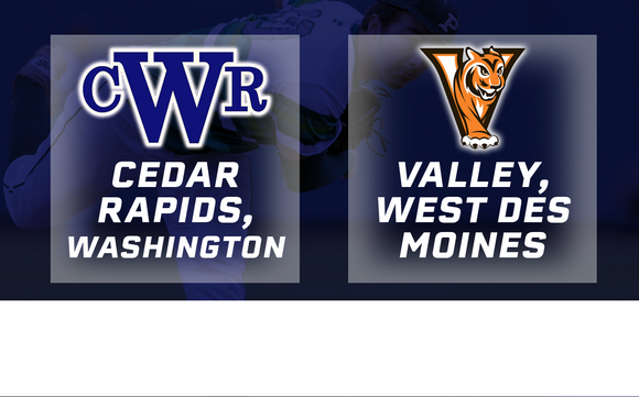 2018 Baseball Class 4A Semifinal (Cedar Rapids, Washington vs. Valley, West Des Moines) - Digital Download