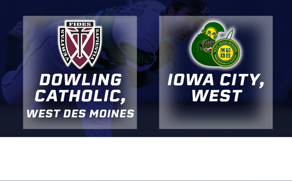 2017 Baseball Class 4A Semifinal (Dowling Catholic, WDM vs. Iowa City, West) - Digital Download