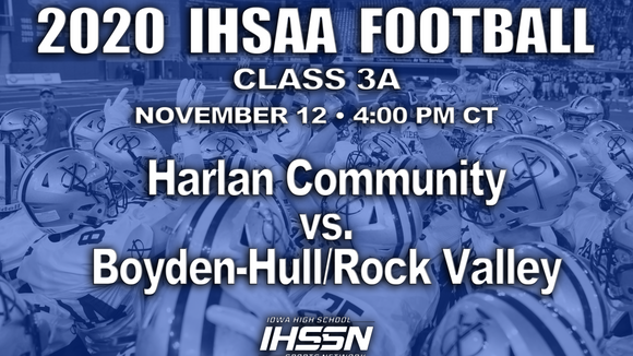 2020 Class 3A State Football Semifinal (Harlan vs. Boyden-Hull/Rock Valley) - Flash Drive