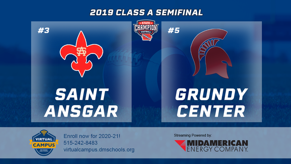 2019 Football Class A Semifinal (Saint Ansgar vs. Grundy Center) Digital Download