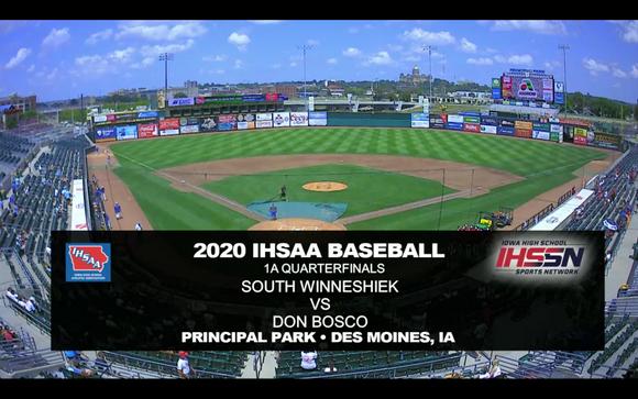 2020 Baseball Class 1A Quarterfinal (South Winneshiek, Calmar vs. Don Bosco, Gilbertville) Digital Download