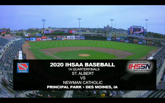 2020 Baseball Class 1A Quarterfinal (St. Albert, Council Bluffs vs. Newman Catholic, Mason City) Digital Download