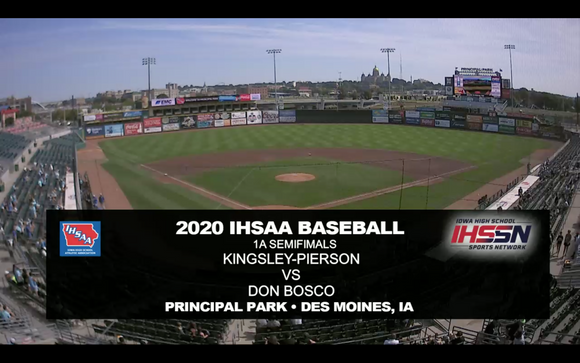 2020 Baseball Class 1A Semifinal (Kingsley-Pierson vs. Don Bosco) Digital Download