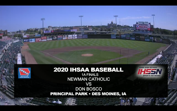 2020 Baseball Class 1A Championship (Don Bosco vs. Newman Catholic, Mason City) Digital Download