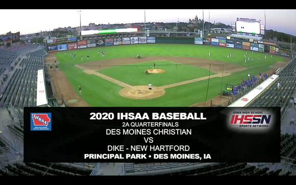 2020 Baseball Class 2A Quarterfinal (Dike-New Hartford vs. Des Moines Christian) Digital Download