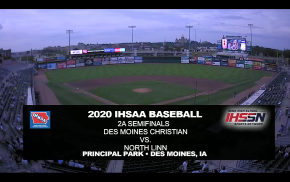 2020 Baseball Class 2A Semifinal (North Linn vs. Des Moines Christian) Digital Download