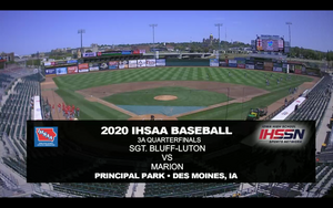2020 Baseball Class 3A Quarterfinal (Sergeant Bluff-Luton vs. Marion) Digital Download