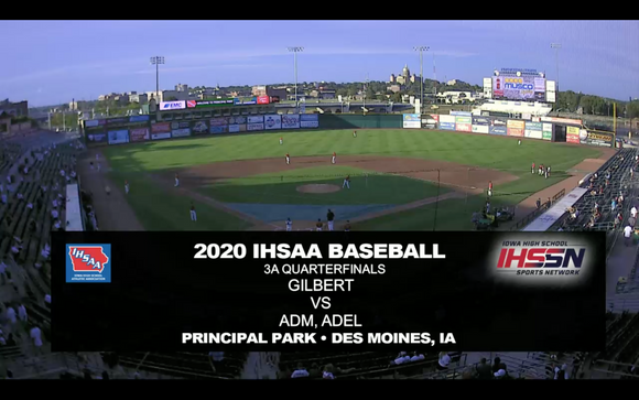 2020 Baseball Class 3A Quarterfinal (Gilbert vs. ADM, Adel) Digital Download