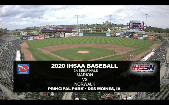 2020 Baseball Class 3A Semifinal (Marion vs. Norwalk) Digital Download