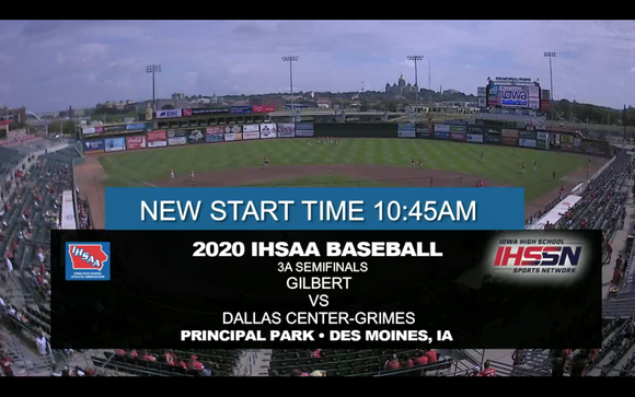 2020 Baseball Class 3A Semifinal (Dallas Center-Grimes vs. Gilbert) Digital Download